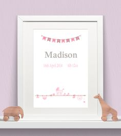 Personalised Baby Print - Baby Bunting Girls