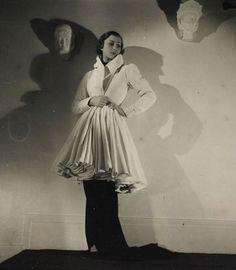 1935-36 -  ensemble by Alix (Mme Grès) by Boris Lipnitzki
