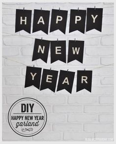 #DIY #HappyNewYear Garland - Deko für die Party!