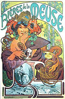 Very nice Belle Epoque era beer poster