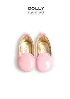 DOLLY por Le Petit Tom ® Zapatillas fumadores BEBÉ 7SL patentes rosa claro