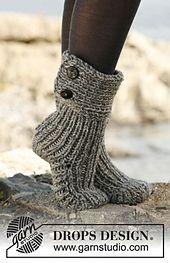 "Ravelry: 134-42 ""Moon Socks"" - Slippers in 2 strands ""Nepal"" pattern by DROPS design"