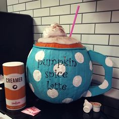 Painted pumpkin contest no carve cut. Took an idea I found and made it my own. Funny Pumpkins, Pink Pumpkins, Painted Pumpkins, Halloween Pumpkins, Fall Halloween, Halloween 2018, Fall Pumpkins, Happy Halloween, Halloween Goodies