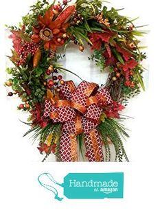 Fall Rustic Wreath Orange Berry Door Wreath Rustic Berry Wreath Red Wreath Autumn Decor Floral Decor Fall Decoration https://www.amazon.com/dp/B01I7KJMFI/ref=hnd_sw_r_pi_dp_QlBGxb3FGQE8K #handmadeatamazon