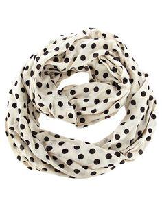 Dorothy Perkins  Kardashian white polka snood