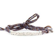 Cloud Grey Mix Cotton Cord Bracelet