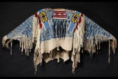 the War Shirt of Chief Joseph (1840-1904), the last great Native American warrior chief.Sothebys auctions. American Indian Art 16th May 2012 His Nez Perce War Shirt is fringed and beaded with glass, in a poncho style and made of mountain sheep hide with pieces of buffalo hide, decorated with blue pigment, horse-hair pendants and white ermine drops. It is estimated to sell for $400,000-$600,000.