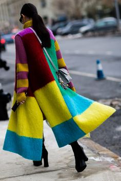 Marta Pozzan - color block coat sweater, The Cut