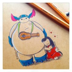 Lilo and Baymax 2 by DeeeSkye