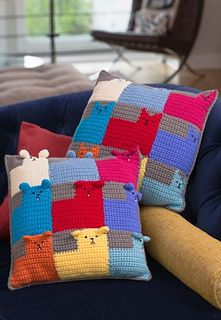 Kittens and Puppies for Sale Pillows  ~ free pattern ᛡ