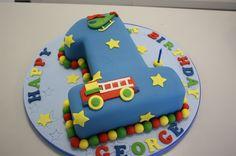 birthday boy cake number one Planes Birthday Cake, Toddler Birthday Cakes, Number Birthday Cakes, Baby First Birthday Cake, Bithday Cake, Number One Cake, Number Cakes, Fondant Cake Designs, Diy Cake