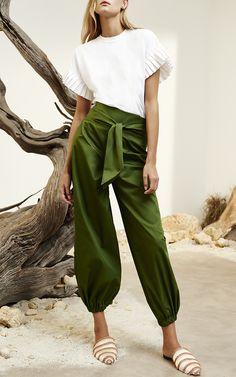 Ziva Pleated Sleeve Top by Alexis | Moda Operandi