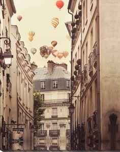 Paris and Hot Air Balloons