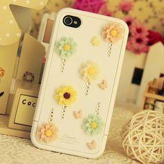 My iPhone 4s Resin flower Case DIY