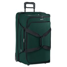 "Dual Compartment Rolling Duffle,  Pack two travel bags in one with the 29"" Dual Compartment Rolling Duffle. Easily separate clothing and gear within this cavernous piece of luggage. Best of all, it easily collapses down into a more modest size when not in use, patiently awaiting your next adventure."