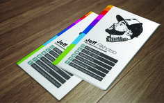 Self Illustration Clean Business Card by Jeff Rikhotso (via Creattica)