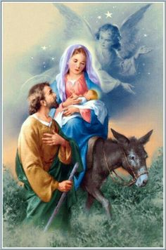 Jesus, Mary, and Joseph ~ The Holy Family. Merry Christmas, and may God bless you with his love and grace everyday. Religious Pictures, Jesus Pictures, Catholic Art, Religious Art, Vintage Christmas Cards, Christmas Pictures, Illustration Noel, Blessed Mother Mary, Mary And Jesus