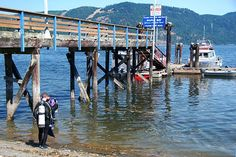 Divers at the government wharf in Maple Bay, Cowichan Valley, Vancouver Island, BC.