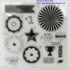 Cricut Artiste Collection Kudos - 2nd stamp set with this collection. http://purpleglocreations.blogspot.com