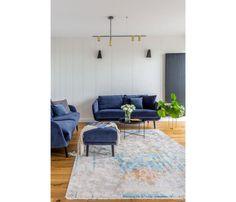 Mieszkanie na Woli - zobacz ciekawy miks stylów - Galeria - Dobrzemieszkaj.pl Eames, Pantone, Lounge, Sofa, Rugs, Chair, Furniture, Blog, Home Decor