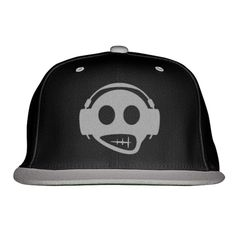 Headphone Embroidered Snapback Hat