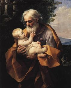 St Joseph with the Infant Jesus  (1620s) by Guido Reni