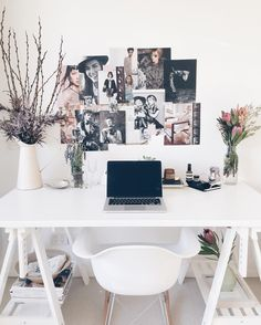 You won't mind getting work done with a home office like one of these. See these 20 inspiring photos for the best decorating and office design ideas for your home office, office furniture, home office ideas Home Office Design, Home Office Decor, Diy Home Decor, Office Ideas, Office Designs, Office Inspo, Decor Crafts, Workspace Inspiration, Home Decor Inspiration