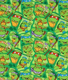 Springs Creative Nickelodeon Teenage Mutant Ninja Turtles Heroes in a Half Shell Toss Fabric - $6.4 | onlinefabricstore.net