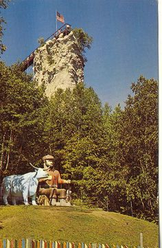 Castle Rock at St. Ignace, MI, 1960's.