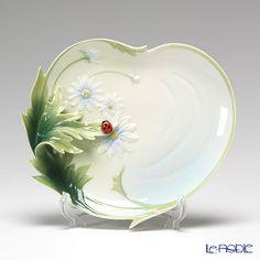 franz  collection/ladybug | Franz Collection Ladybug design sculptured porcelain dessert plate ...