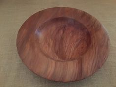 A platter turned from kauri pine. DJ.
