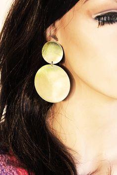 Huge circle  earringsmetalsmithed earringstatement