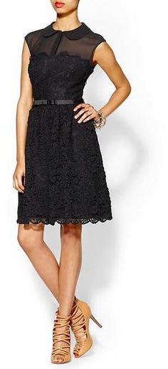 Ranni Lace Belted Dress - Lyst