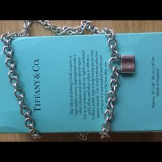 "Tiffany & Co. 1837 padlock Necklace 21.5 inches Beautiful Tiffany & Co. 21.5 inch sterling silver necklace  with ""return to Tiffany"" lock. Have matching bracelet if interested in both. Tiffany & Co. Jewelry Necklaces"