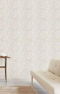 Eijffinger behang Wallpower Rythm - naturel, grijs, wit - 330005