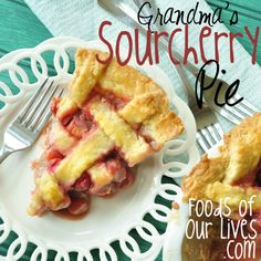 For anybody who makes fruit, there's at least one recipe that we can not help but get ecstatic over. This Grandma's Sour Cherry Pie might just be the next wonderful thing for you. Cherry Recipes, Fruit Recipes, Pie Recipes, Dessert Recipes, Apple Rhubarb Pie, Apple Pie, Sour Cherry Pie, Pie Dessert, Pinterest Recipes