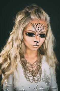 www.vivianmakeupartist.com lion, lions makeup, queen of the jungle, lion queen makeup