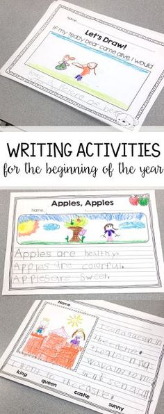 Some great activities for the beginning of the year. These writing activities help your struggling students begin to add details to their stories and illustrations right from the beginning of the school year.