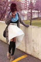 ivory American Apparel skirt - black vintage purse