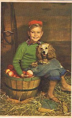 Dutch boy and his dog