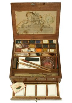 Ackerman Mahogany      Watercolour Box        c1830