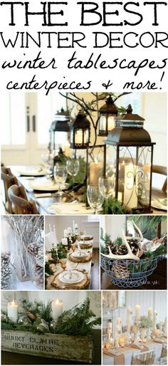 Decorations – Winter Table Ideas & More! The best winter decor inspiration! How to decorate after you take down all of your Christmas decor!The best winter decor inspiration! How to decorate after you take down all of your Christmas decor! After Christmas, Noel Christmas, Rustic Christmas, Christmas Crafts, Christmas Ideas, Christmas 2019, Christmas Table Scapes, Christmas Topper, Purple Christmas