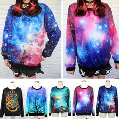 Unisex Pattern Printing Round Neck Loose Long Sleeve T-Shirt Thicking Hoodies