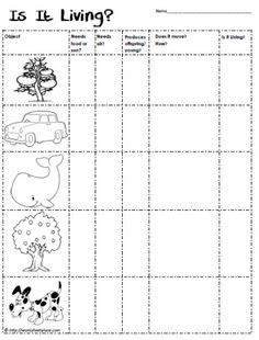 Worksheet Characteristics Of Living Things Worksheet book and worksheets on pinterest does it need food or air produce offspring young if so is a living thing needs worksheet
