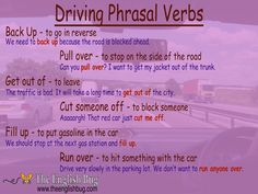 Phrasal Verbs about 'Driving' Do you have a car? Do you ever drive around and wonder what the English word is for the actions you do in your car? Stop wondering and learn theses phrasal verbs. In Canada I started driving…Read more ›