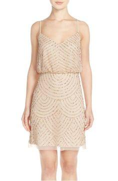 Main Image - Adrianna Papell Sequin Mesh Blouson Dress