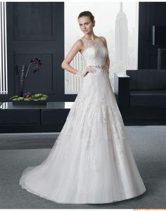 A-linie Moderne Dramatische Brautkleider aus Tüll mit Applikation