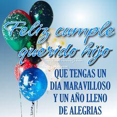 Spanish Birthday Wishes, Happy Birthday Notes, Birthday Qoutes, Birthday Cards For Son, Birthday Frames, Happy Birthday Images, Sons Birthday, Happy Birthday Wishes, Birthday Greeting Cards