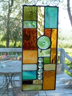 "Beautiful Stained Glass Panel ("",)"