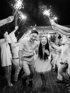 Sparkler exit with Hanah & Caleb – Sydney Fine Art Film Wedding Photography